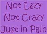 Not Lazy, Not Crazy, Just in Pain