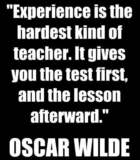 Experience as a Teacher