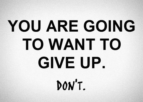 Giving UP!