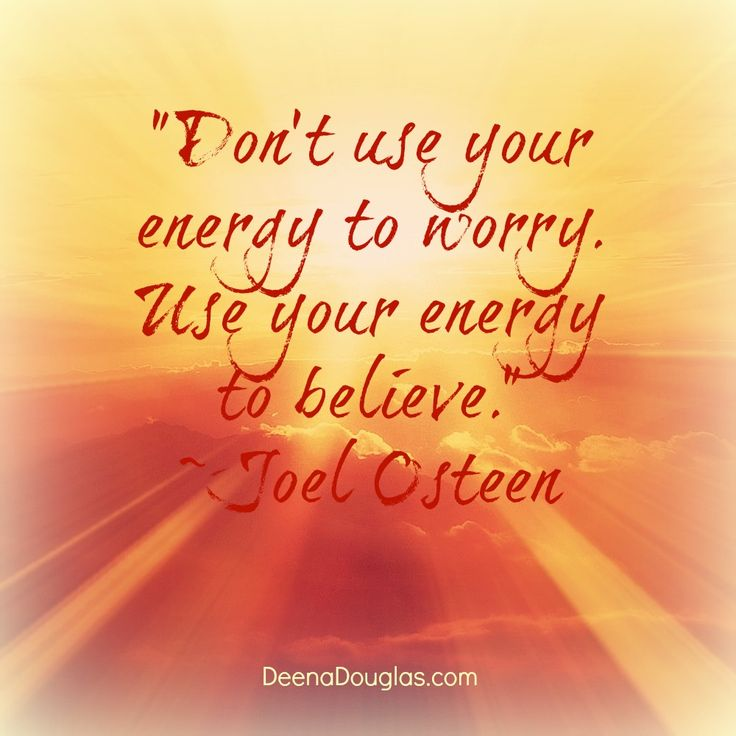 Use Your Energy To Believe!