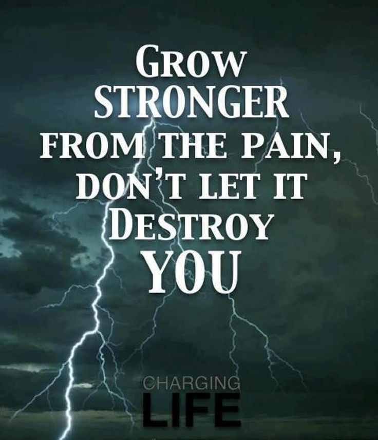 Find Strength In Pain!