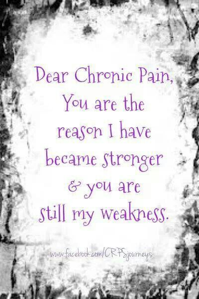 Dear Chronic Pain.....