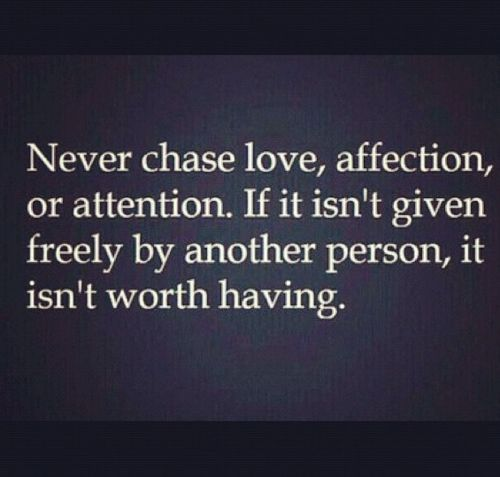 Stop Chasing Attention!!!