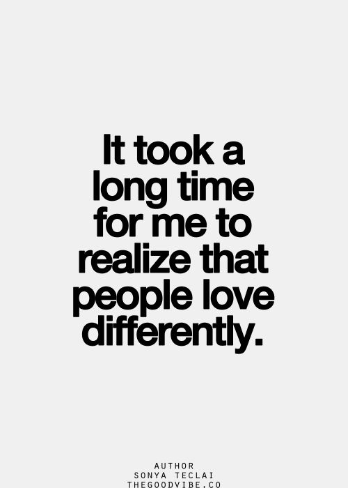 People Love Differently